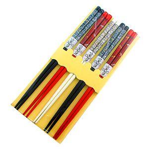 Палочки бамбуковые, 3 цвета, рисунок - стрекоза