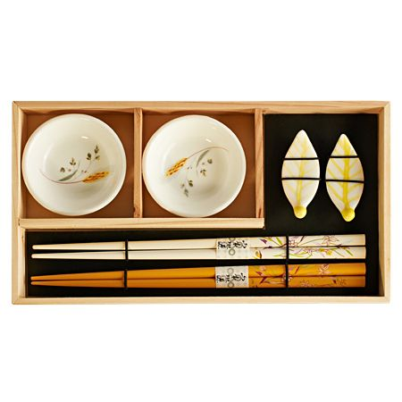 Набор для суши на 2 персоны (2 пиалы, палочки,подставки)