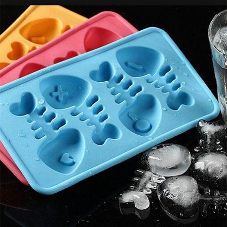 Силиконовая форма для льда Рыбки