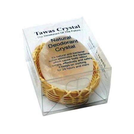Натуральный дезодорант Кристалл свежести в кокосовой корзинке и пластиковой коробочке 55 гр