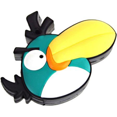 """Флешка """"Angry birds"""" 16 Гб зеленая птица плоская"""