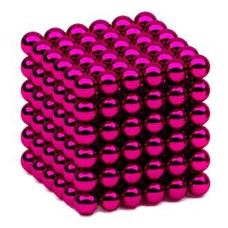 Головоломка Нео куб 5мм 216 сфер розовый