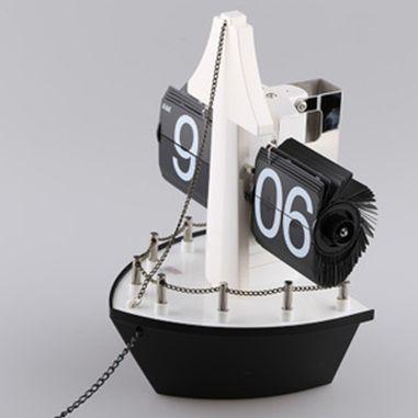 """Часы перекидные дизайнерские """"Корабль"""" черный"""