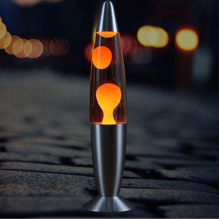 Лава лампа - релаксант Желтая (Lava lamp) 220V