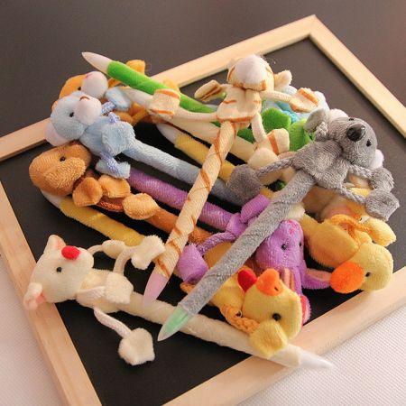Ручки с игрушками зверятами