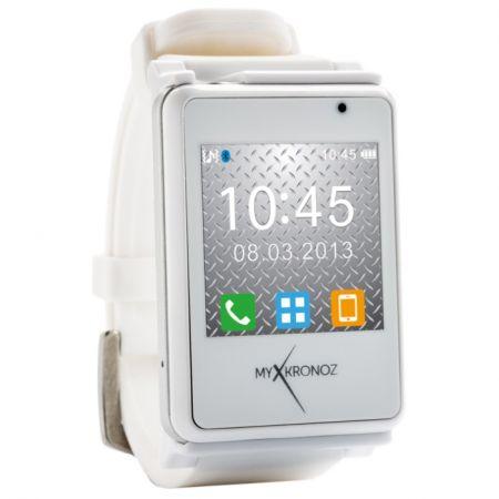 Умные наручные часы MyKronoz ZeNano White (белые) SW для iPhone Samsung