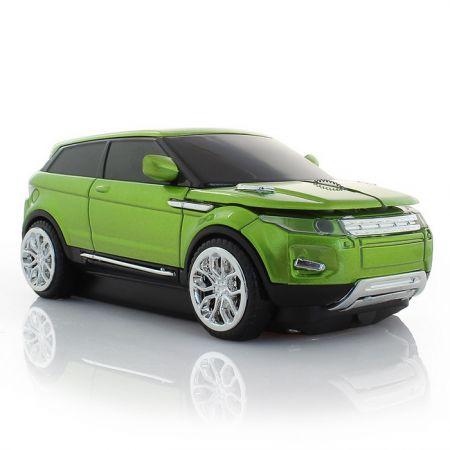 """Мышь - машинка """"Range Rover"""" беспроводная 2,4GHz зеленая"""