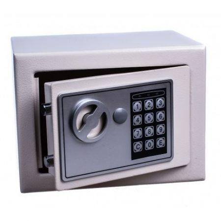 Сейф металлический с кодовым замком 23х17х17 см черный