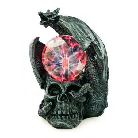 """Плазма светильник """"Дракон и череп"""" 20 см"""