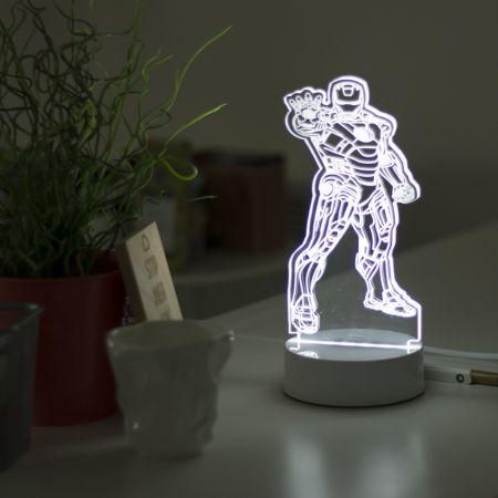 """3D светильник """"Железный Человек"""" 30 см"""