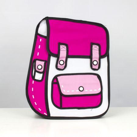 "Рюкзак ""Мультяшка"" 3D розовый"