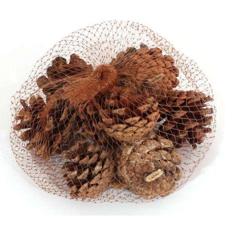 Шишки сосновые натуральные для новогодних поделок, украшений и других нужд 10шт