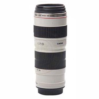 Термокружка Объектив фотоаппарата высокая на 400 мл белого цвета