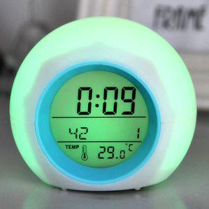 """Часы-будильник """"Шар"""" с многоцветной подсветкой и звуками природы"""