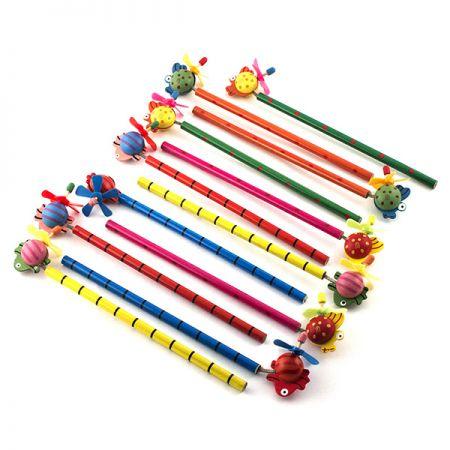 Набор карандашей на пружинке Рыбки 12шт в пакете