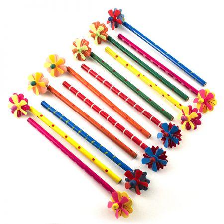 "Набор карандашей на пружинке ""Цветы"" 12шт в пакете"