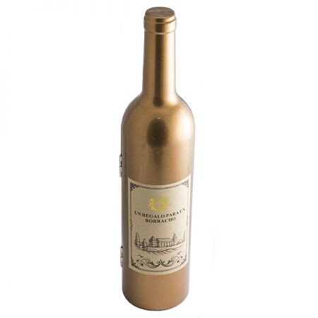Набор винный бутылка Золотая H=32 см
